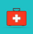 first aid kit box vector image vector image