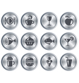 Food and drink buttons vector image vector image