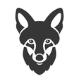 Fox Head Ligi Icon on White Background vector image vector image