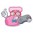 gamer sock mascot cartoon style vector image
