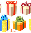 gift boxes seamless background bright flat vector image