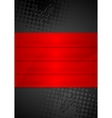 Grunge black background with red stripes vector image vector image