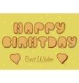 Happy birthday Cookies font vector image vector image