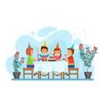 happy children celebrate birthday party sitting vector image vector image