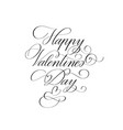 happy valentine day retro classic romantic design vector image vector image