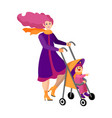 happy young mother walks with bain the vector image vector image