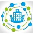 hospital medical center design vector image