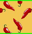 hot chili pattern yellow vector image vector image