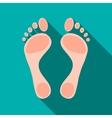 Human feet icon flat style vector image vector image
