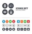 Identity ID card badge icons Eye symbol vector image vector image
