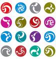 Infinite loop arrows abstract symbol single color vector image