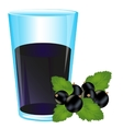 Juice from berry currant vector image vector image