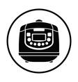 Kitchen multicooker machine icon vector image vector image