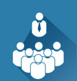 leader and group team meeting icon vector image vector image