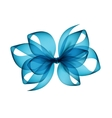 Light Blue Azure Transparent Bow Top View vector image vector image