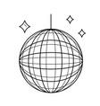mirror ball line icon vector image