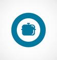 pan bold blue border circle icon vector image