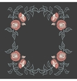 Rose frame on a dark background vector image