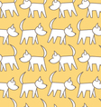 seamless pattern dog vector image vector image