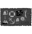 set of drawings on the sea theme vector image vector image