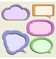 set paper speech bubbles vector image vector image
