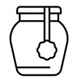 shop jam jar icon outline style vector image vector image
