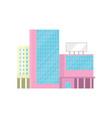 shopping mall office building facade modern city vector image