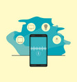 smartphone connection apps vector image vector image