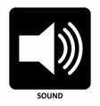 sound symbol vector image