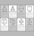 square hexagonal pyramid sphere cylinder cuboid vector image vector image