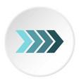 striped arrow icon circle vector image vector image