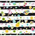 tropical summer seamless pattern in doodles vector image