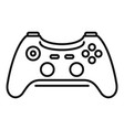 wireless controller icon outline style vector image vector image