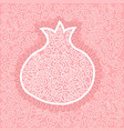 with graphic pomegranate vector image