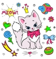 collection of colorful stickers for girls vector image