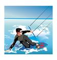 kite boarding vector image