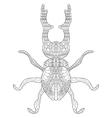 Lucanus cervus Coloring for adults vector image