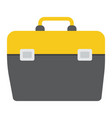 toolbox flat icon build and repair toolkit sign vector image