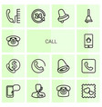 14 call icons vector image vector image