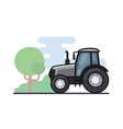 a tractor vector image