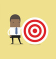 african businessman with big target vector image vector image