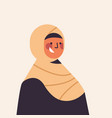 arabic woman in traditional clothes smiling arab vector image