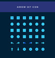 arrows icons set flat style design vector image vector image