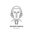 benjamin franklin icon usa politician line art vector image
