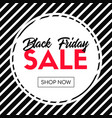 black friday sale shop now striped banner vector image