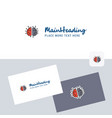 brain processor logotype with business card vector image