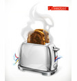 broken toaster error 3d icon vector image vector image