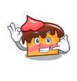 call me sponge cake mascot cartoon vector image vector image