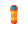 camping tourist sleeping bag - colored icon vector image