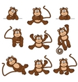cheeky monkey vector image vector image